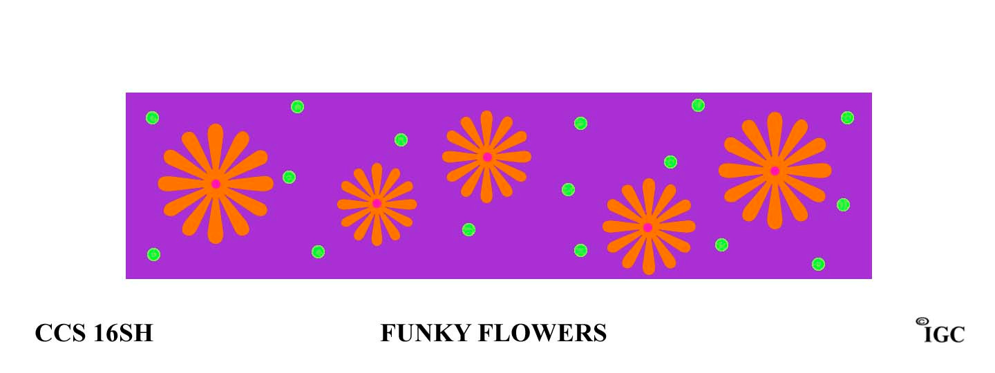 Funky Flowers Candle Cozy