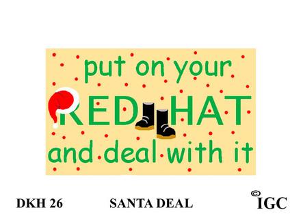 Santa Red Hat Doorknob Hanger