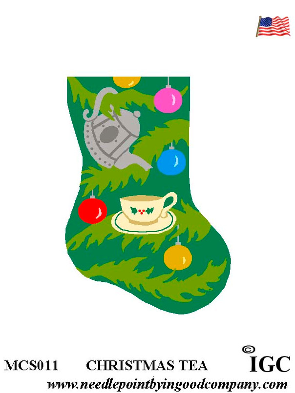Christmas Tea mini sock