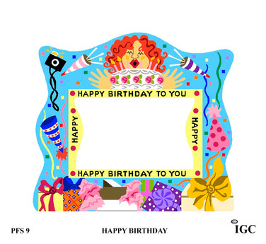 Happy Birthday Large Frame