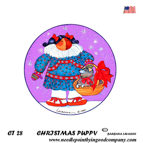 Christmas Puppy - Barbara Lavallee