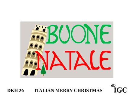 Italian Merry Christmas Doorknob Hanger