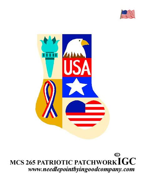 USA Patriotic mini sock