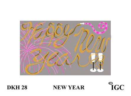 New Year Doorknob Hanger