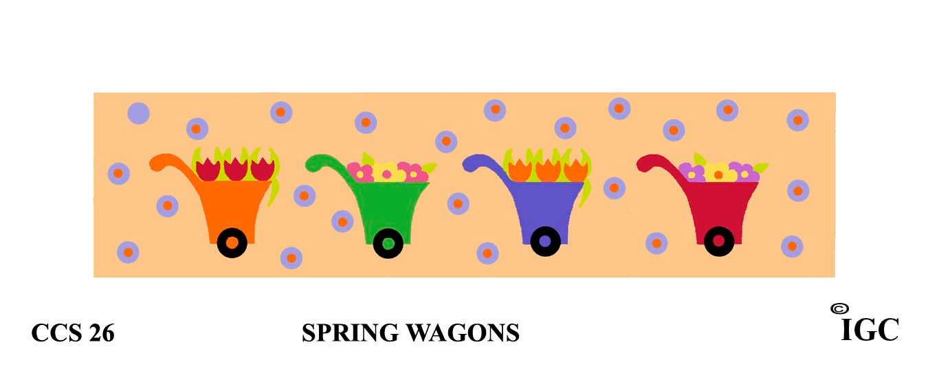 Spring Wagons Candle Cozy
