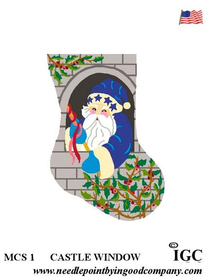 Castle Window mini sock