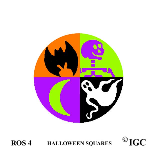 Halloween Squares Round