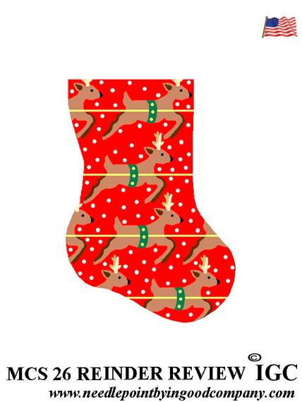 Reindeer Review mini sock