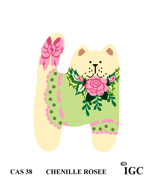 Chenille Rose Cat