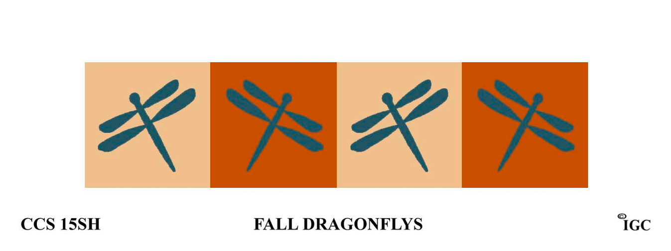 Fall Dragonflies Candle Cozy