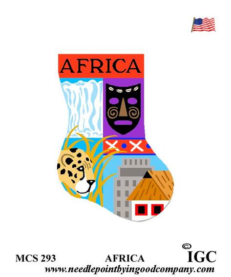Africa mini sock