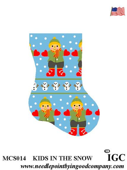 Kids In The Snow mini sock