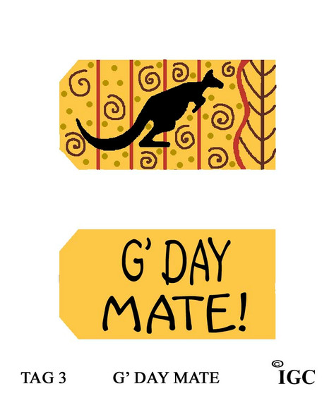 G' Day Mate Tag