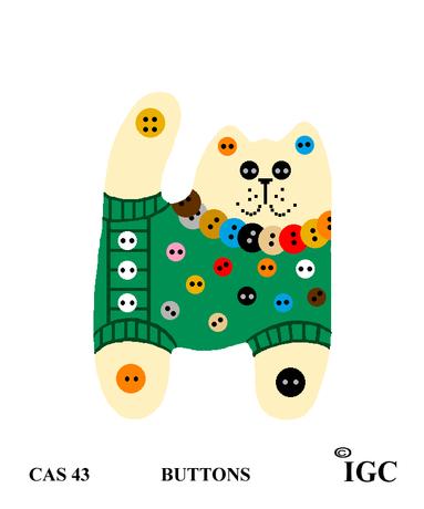 Buttons Cat