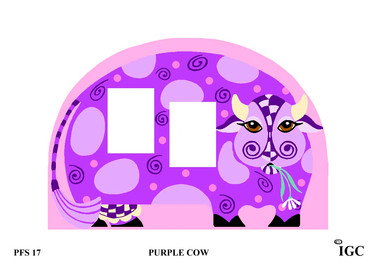 Purple Cow Large Frame