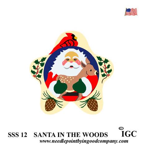 Santa In The Woods Star