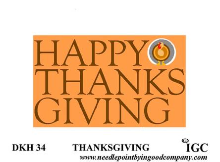 Happy Thanksgiving Doorknob Hanger