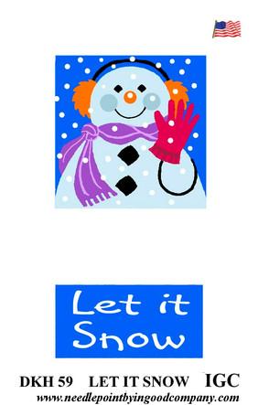 Let it snow doorknob hanger
