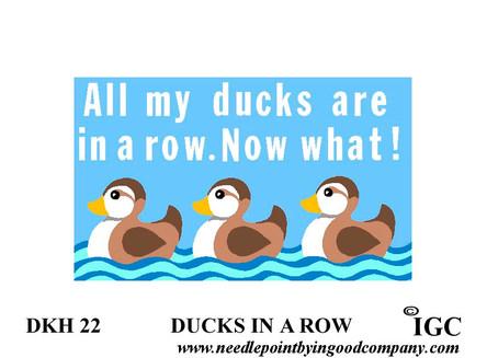 Ducks In A Row Doorknob Hanger