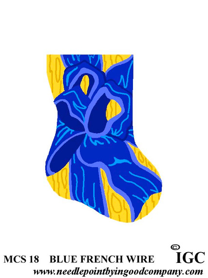 Blue French Wire mini sock