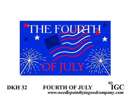 Fourth of July Doorknob Hanger