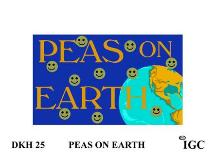 Peas On Earth Doorknob Hanger