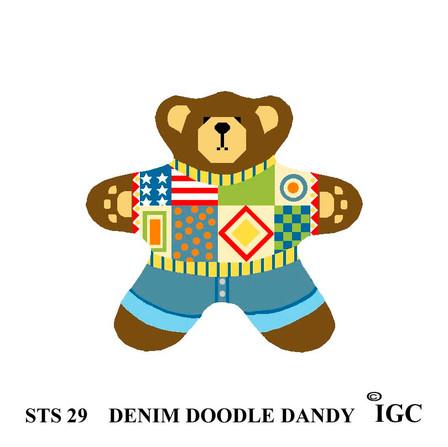 Denim Doodle Dandy Bear