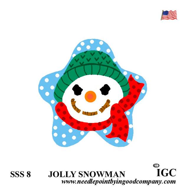 Jolly Snowman Star