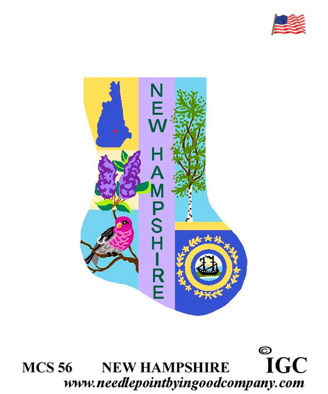 New Hampshire Mini Sock