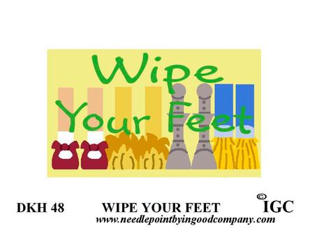 Wipe Your Feet Oz Doorknob Hanger