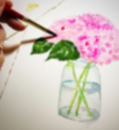 hand painted watercolor art for your custom invitations