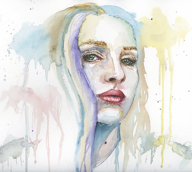 Custom Abstract Watercolor Portrait