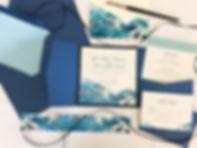 watercolor japanese inspired wedding invitation