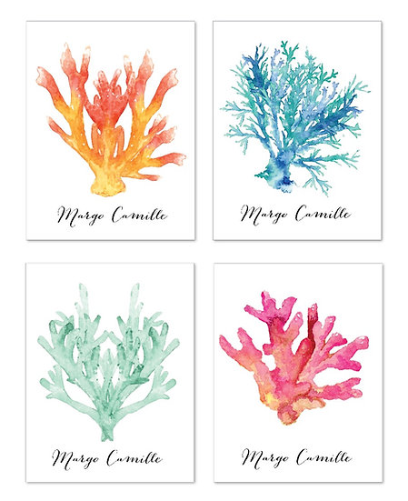 SEA CORALS Personalized Watercolor Notecard (8)