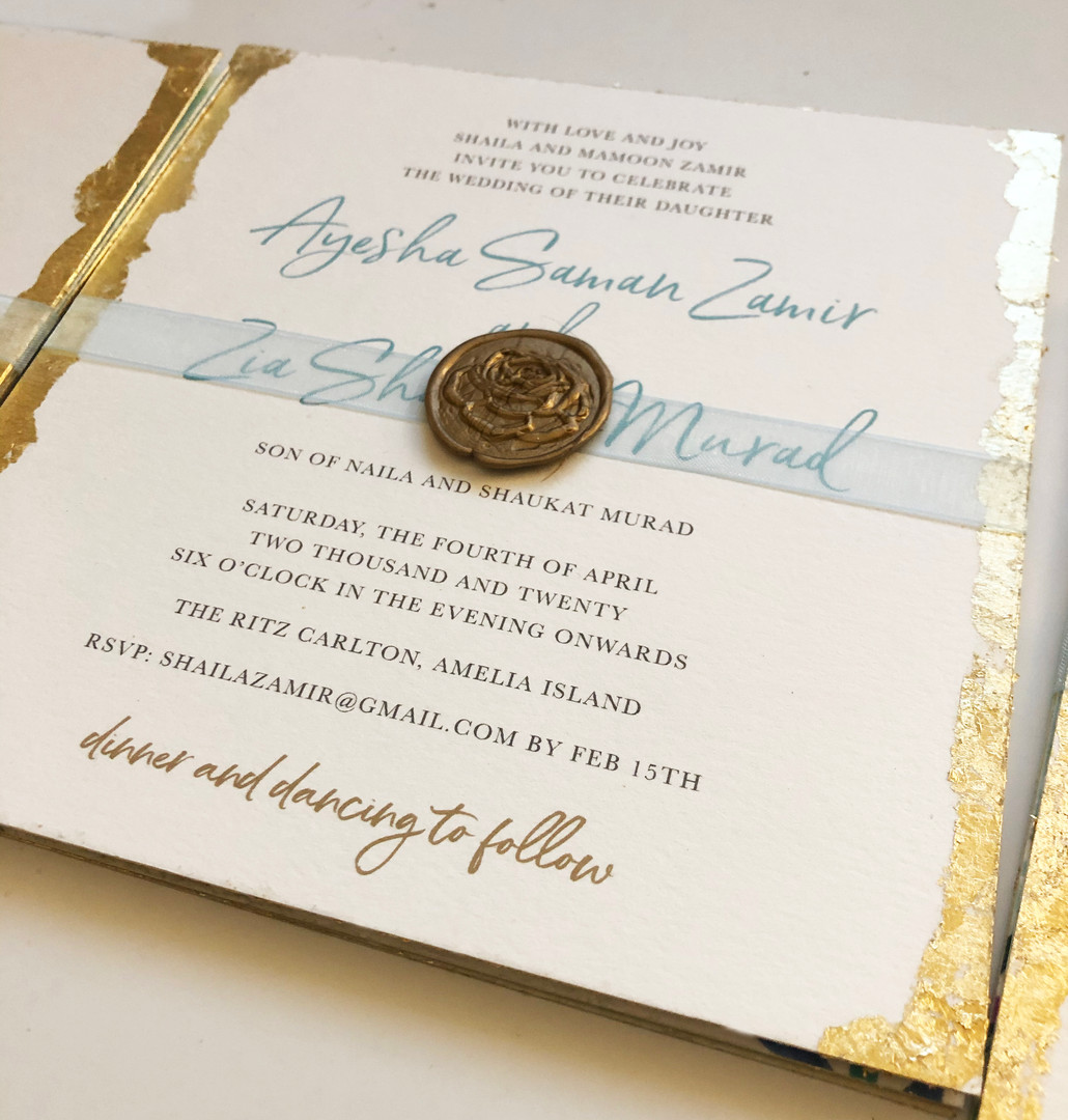 gold foil edges