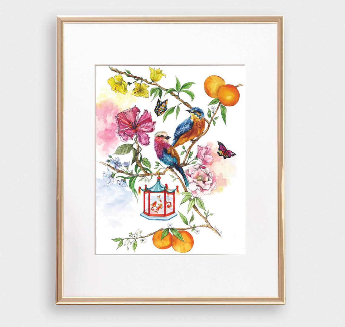 Floral Bird 1