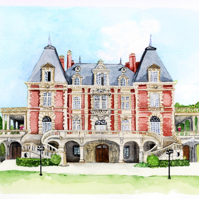 Chateau Bouffemont outside of Paris, France