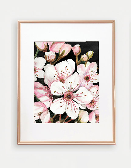 Light Pink Floral Art Print