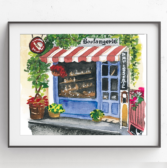 Paris Boulangerie Art Print