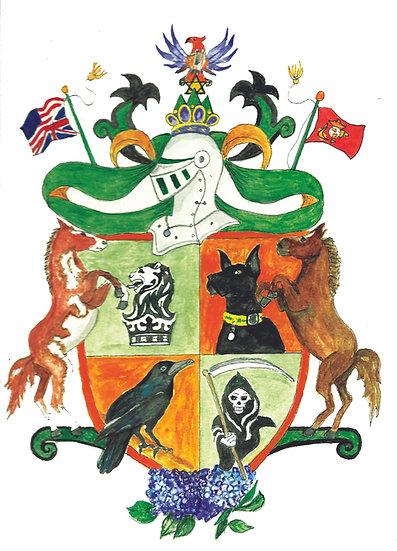 Watercolor Family Heraldry