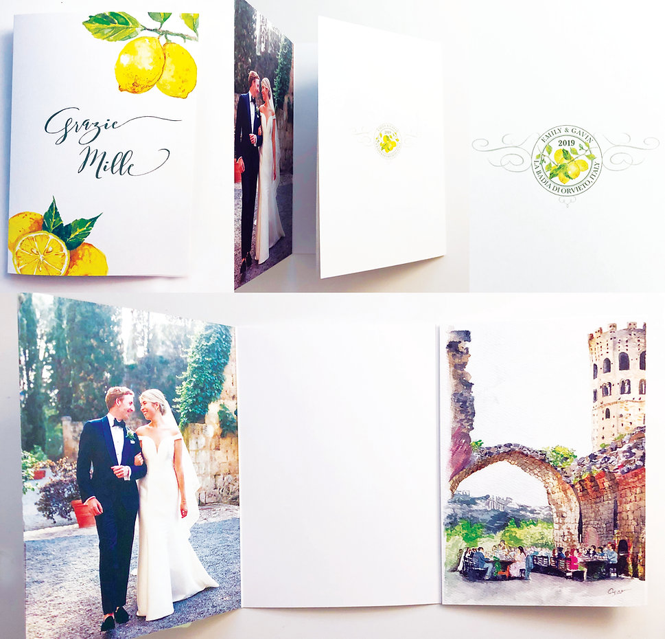 Italy destination thank you card