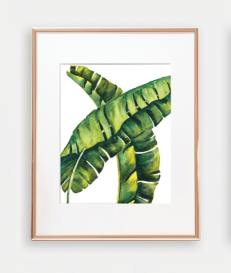Botanical Banana Leaves Art Print