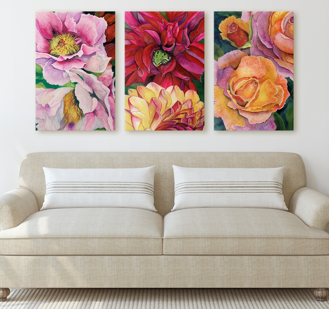 Large Floral Art Prints