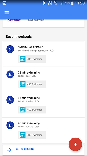 Sync Google Fit with NSD Swimmer App