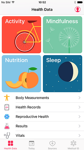 Enable Apple Health Settings