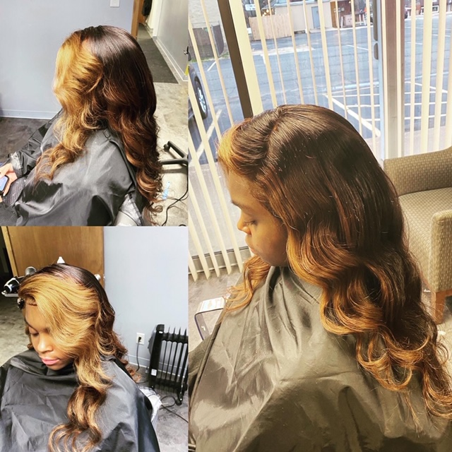 Lace Front Wig Install, Highlights, Wand