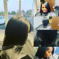 Natural Hair, Silk Press, Cut & Style