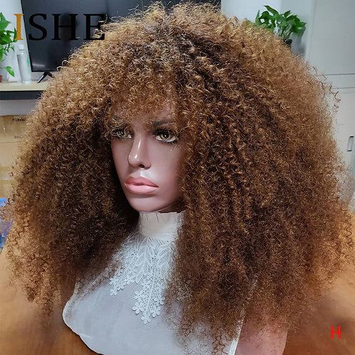 Lace Front Wig: Afro Kinky Curly, 13x6 LF, 100% Remy HH, Pre Pluck,  150 Density
