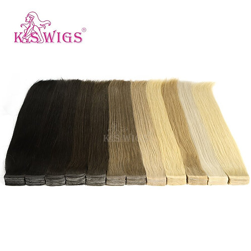 Luxury Tape In Extensions: 100 % Remy HH, Double Drawn, 20'' 50g