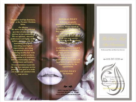 The Salon And Spa Sanctuary Brochure